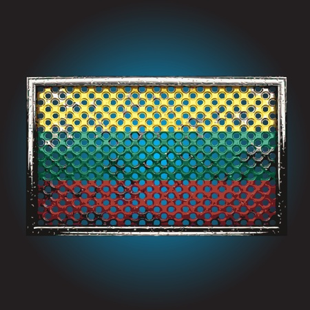 war paint: bandera en metal hecho en vector