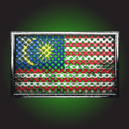 flag on old metal made in vector Stock Vector - 13734131