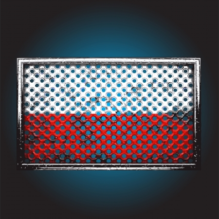 flag on old metal made in vector Stock Vector - 13734110