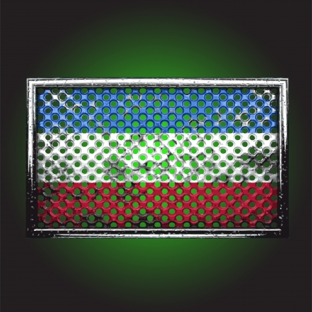 flag on old metal made in vector Stock Vector - 13734135