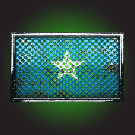 flag on old metal made in vector Stock Vector - 13734138