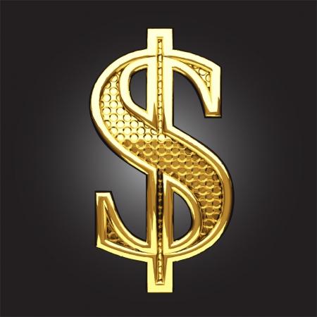 dolar: figura de oro hecho en el vector