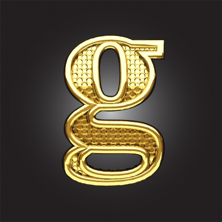 gold alphabet: golden figure made in vector