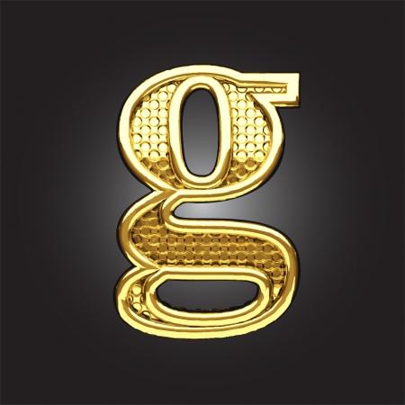 golden figure made in vector