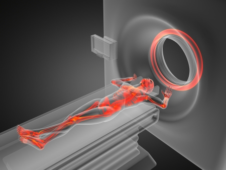 medical device: MRI examination made in 3D graphics