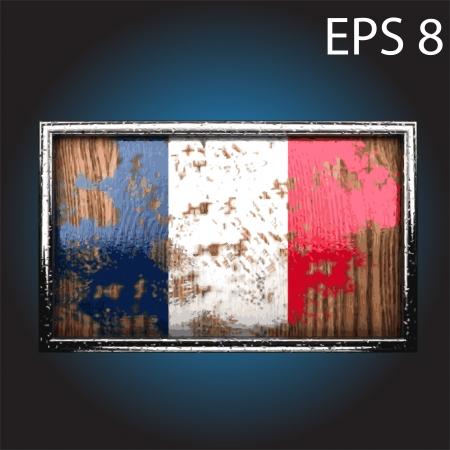 war paint: bandera en madera vieja hizo Vectores