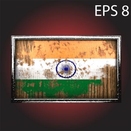war paint: bandera hecha en la madera vieja