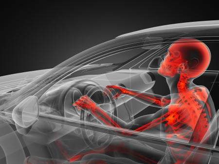 transparent car concept with driver made in 3D Stock Photo - 13962892