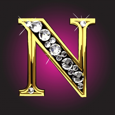 figure d'oro con diamanti Vettoriali