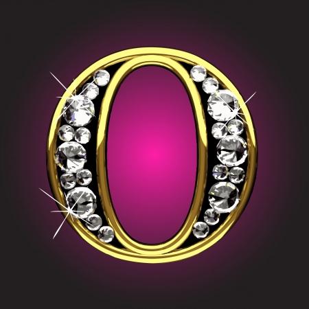 brillant: goldene Figur mit Diamanten Illustration