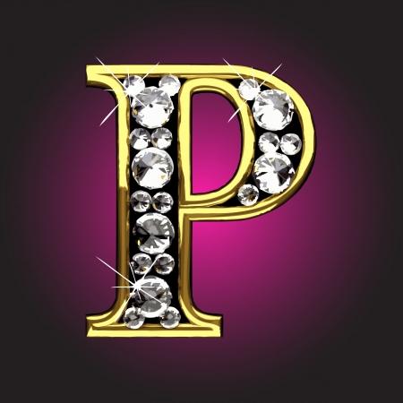 chiffre d'or avec des diamants