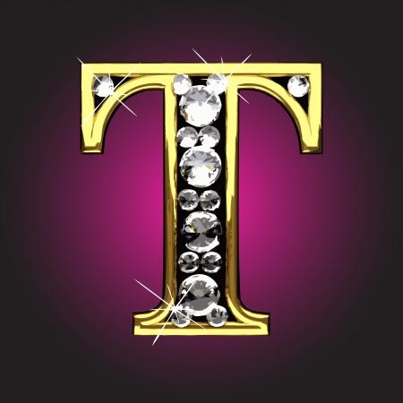 figuras abstractas: figura de oro con diamantes