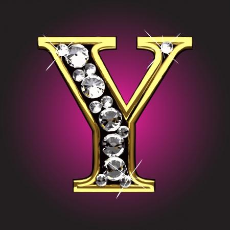 solid figure: figure d'oro con diamanti Vettoriali