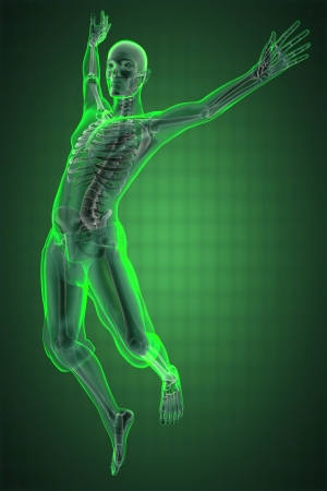 jump man radiography made in 3D Stock Photo - 13991646