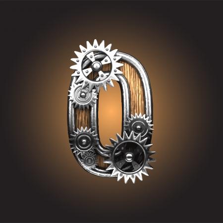 gearwheels: metal figure  with gearwheels made in vector