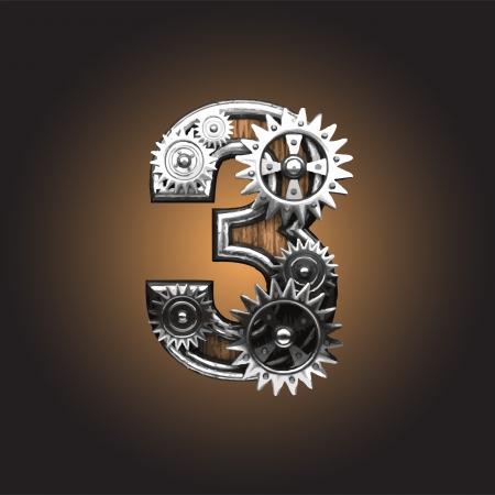 clock gears: metal figure  with gearwheels