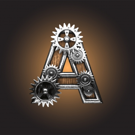 metal figure  with gearwheels