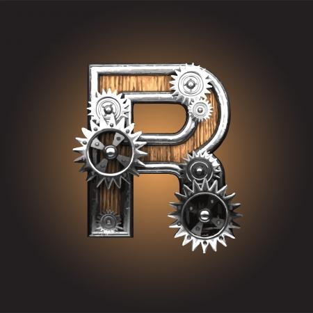 figura metallo con ruote dentate
