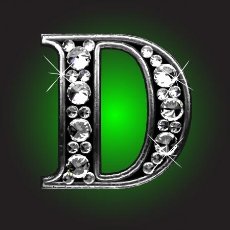 uppercase: figura de plata con diamantes Vectores