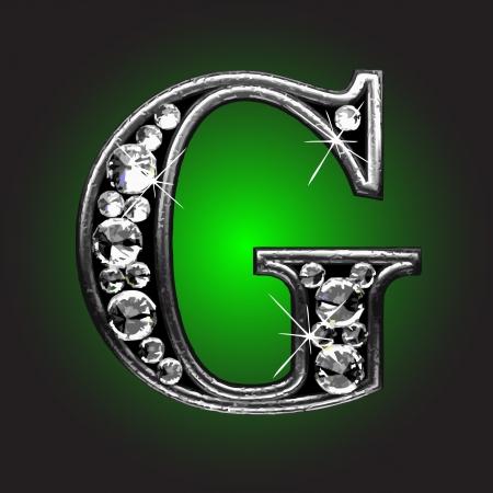 solid figure: figura d'argento con diamanti Vettoriali