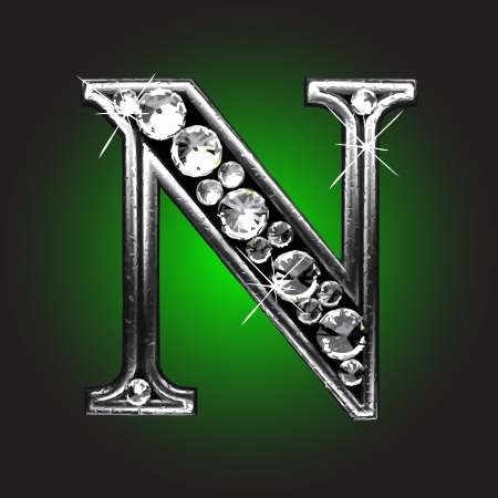 solid figure: figura argento con diamanti Vettoriali