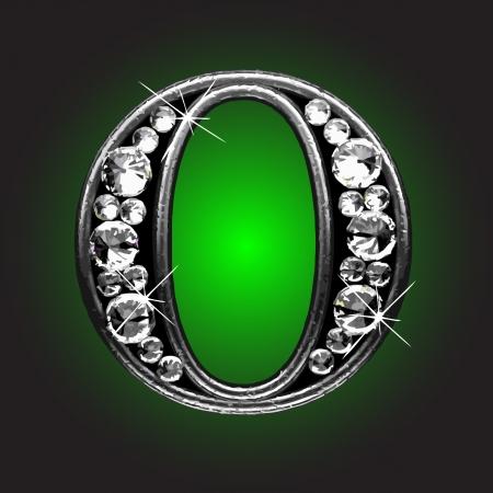 solid figure: figura argento con diamanti realizzati in vettoriale Vettoriali