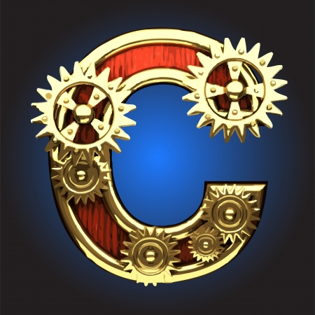 wooden figure with gears made in vector Stock Vector - 14111421