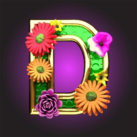 gerbera daisy: La figura verde con flores