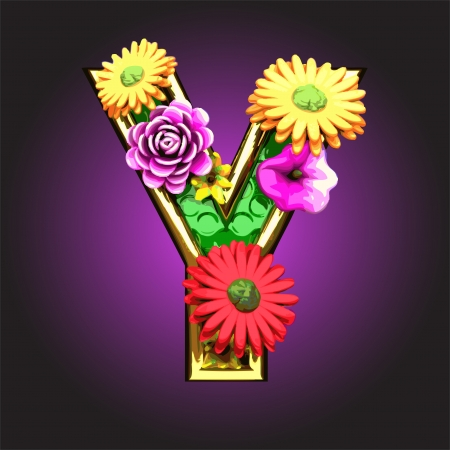 golden daisy: La figura verde con flores