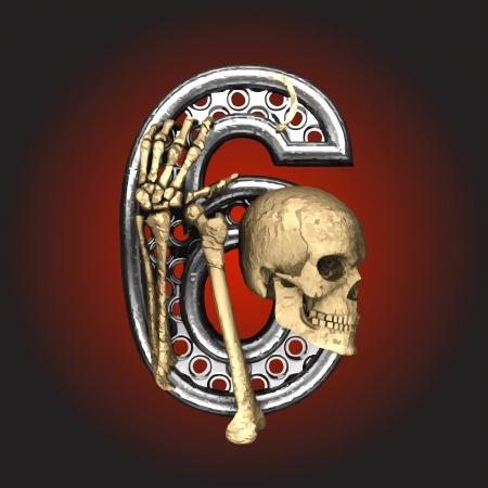 Metal figure with skeleton Stock Vector - 14483172