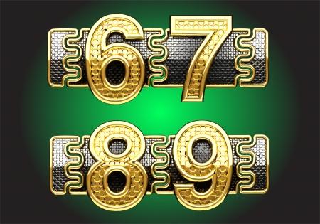 line up golden figures Stock Vector - 14483243
