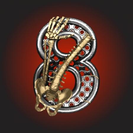 Metal figure with skeleton Stock Vector - 14483177