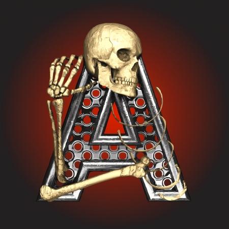 Metal figure with skeleton Stock Vector - 14483192