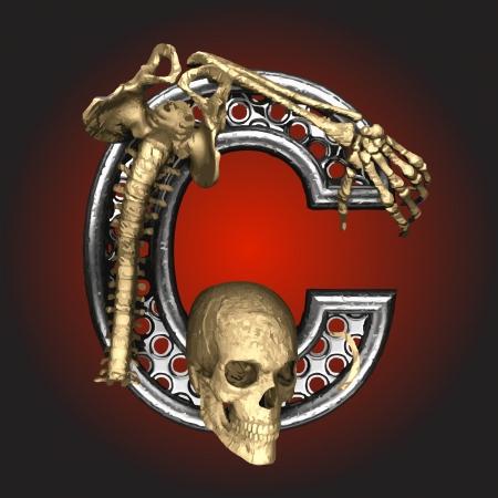 Metal figure with skeleton Stock Vector - 14483197