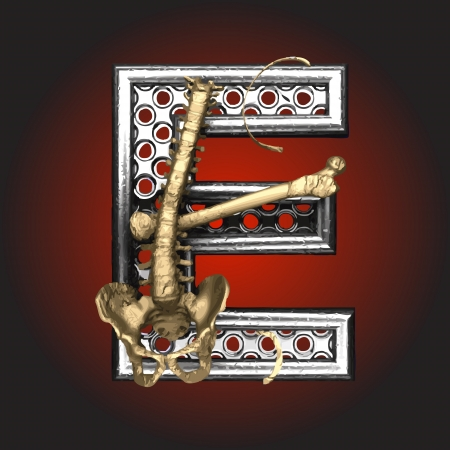 Metal figure with skeleton Stock Vector - 14483166