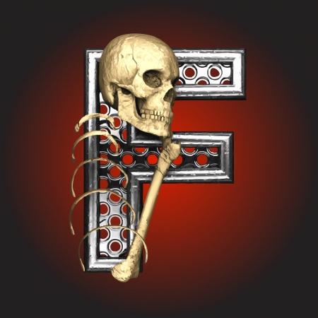 leven en dood: Metalen figuur met skelet