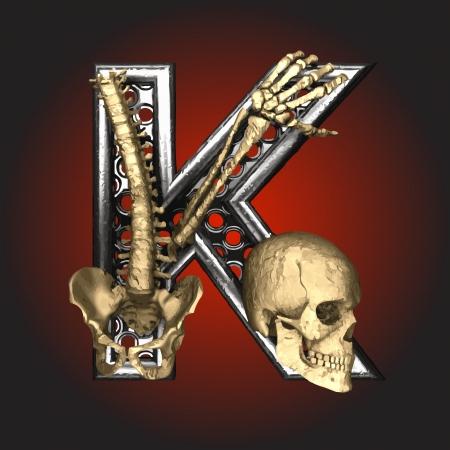 Metal figure with skeleton Stock Vector - 14483205