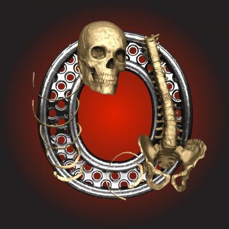 Metal figure with skeleton Stock Vector - 14483175