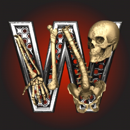 Metal figure with skeleton Stock Vector - 14483220