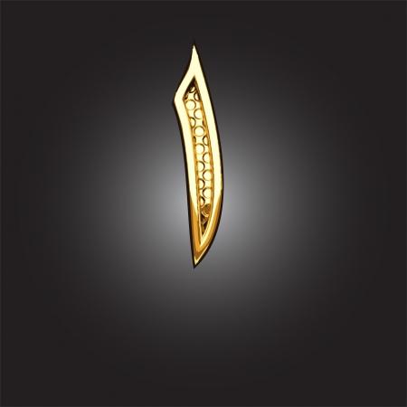 arabische letters: gouden Arabisch cijfer