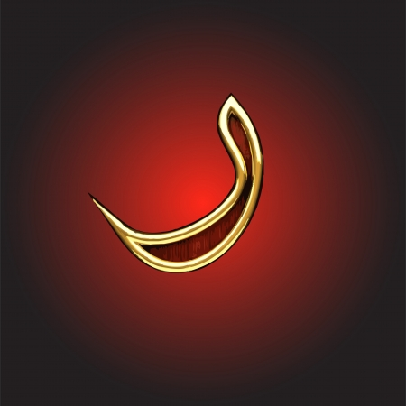 golden Arabic figure made in vector Vector