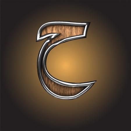 arabische letters: houten Arabische figuur gemaakt in vector