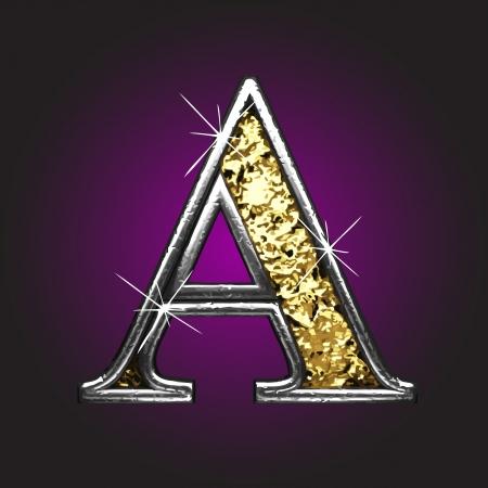 gold alphabet: golden figure
