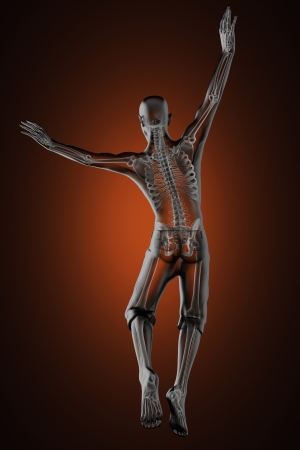 jump man radiography made in 3D Stock Photo - 15734408