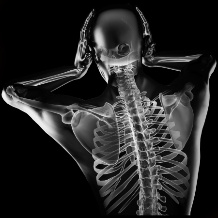 human radiography scan made in 3D Stock Photo - 15967265