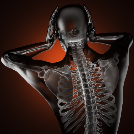 human radiography scan made in 3D Stock Photo - 15967275