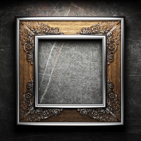 oxidado: marco de la vendimia Foto de archivo