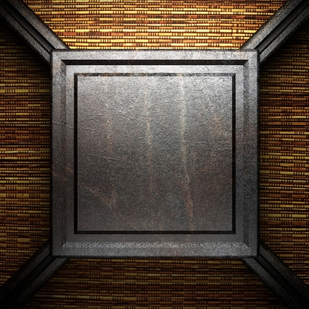 iron plate on wall Stock Photo - 16077385