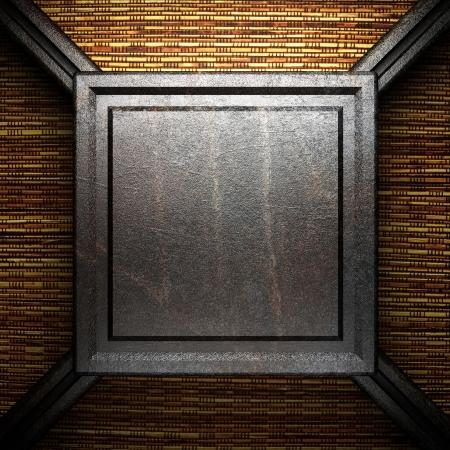 iron plate on wall Stock Photo - 16077385