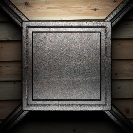 iron plate on wall Stock Photo - 16077354